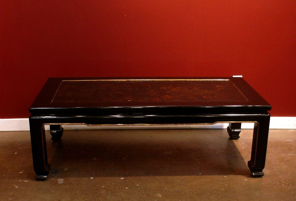 Delightful A French Chinoiserie Black Lacquer Coffee Table   Image 3 Of 5