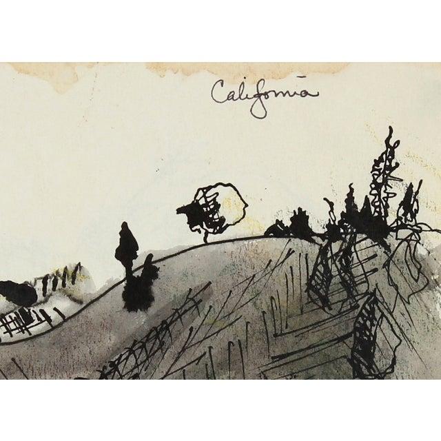 "Image of Laura Lengyel ""California"" Ink Drawing, 1967"