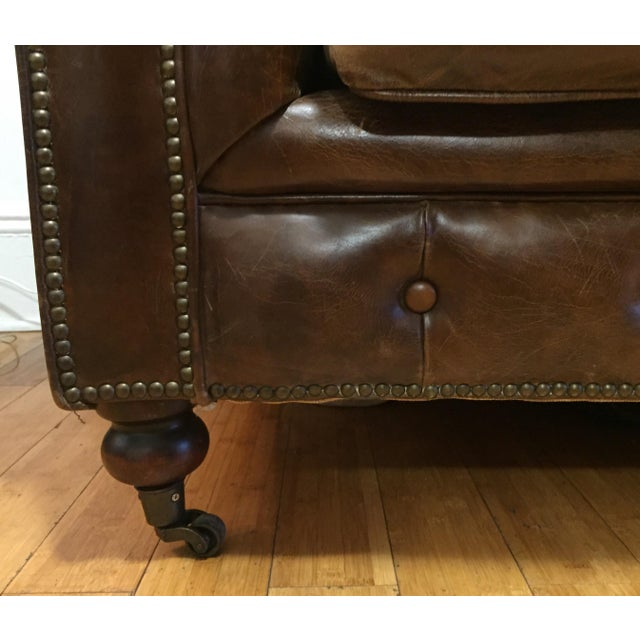 Chesterfield Sofa Brown Leather - Image 5 of 5