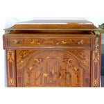 Image of Antique French Style Marquetry Secretary
