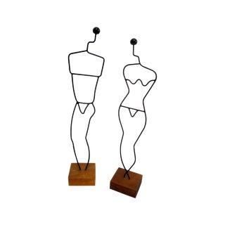 Danish Modern Wire Mannequin Figures