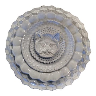Parisian Astier De Villatte Pottery Cat Plate