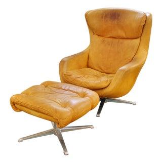 Mid-Century Overman Egg-Form Chair & Ottoman