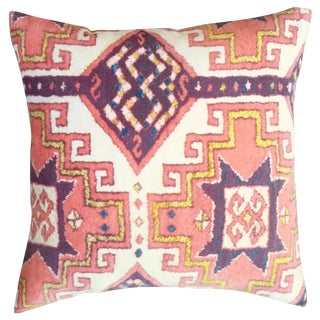 Orange Summer Velvet Pillow Cover