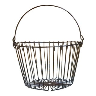 Rustic Vintage Metal Egg Basket