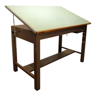 Vintage Mayline Steel Drafting Table Desk