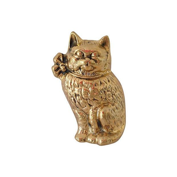 Brass Cat Door Knocker - Image 1 of 6