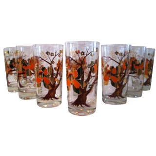 Culver Cherry Blossom Tree Tumblers - Set of 8
