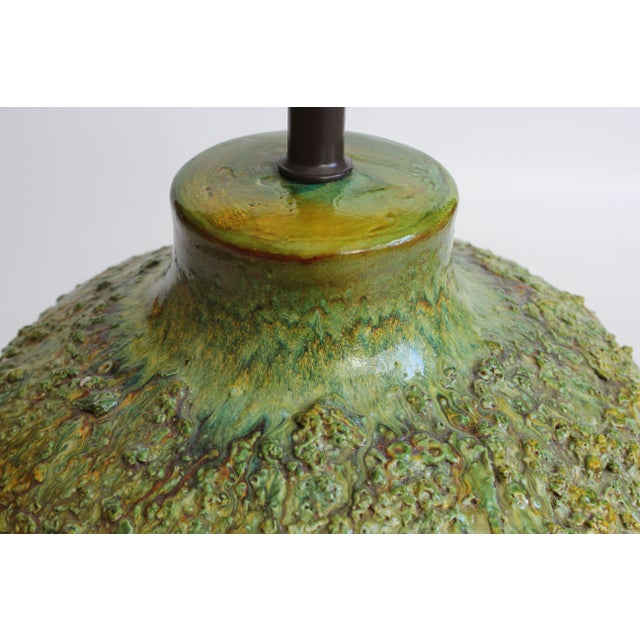 Chartreuse Volcanic Glaze Table Lamp - Image 4 of 6