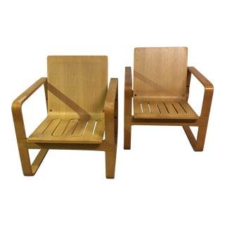 Modern Bentwood Club Chairs - A Pair