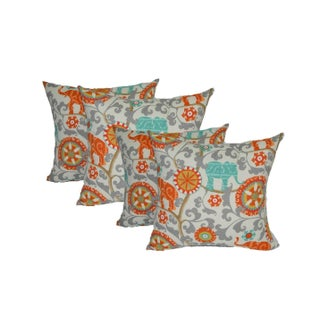 Bohemian Outdoor Elephant Pillows - Set of 4