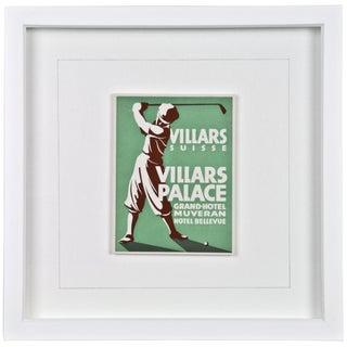 Framed Hotel Luggage Label - Villars Palace