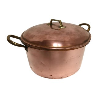 19th Century Monogrammed Copper Pot and Lid