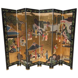 Gold Leaf Chinese Coromandel Screen