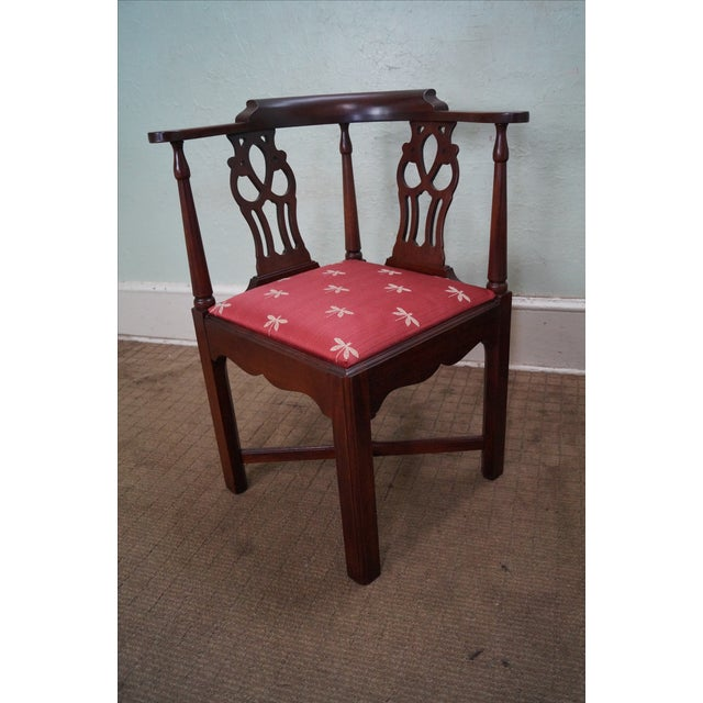 Quality Mahogany Chippendale Corner Arm Chair - Image 2 of 10