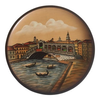 Pfaff Venice Canal Wooden Wall Plate