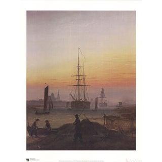 """Caspar David Friedrich """"The Greifswalder Harbor"""" Poster"""