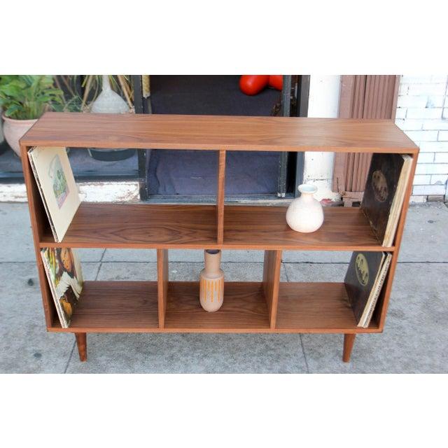 Modern Walnut Bookcase Shelf - Image 5 of 10
