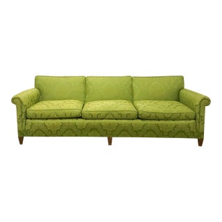 Mid Century Signed Sloane Sofa in Chartreuse Damask