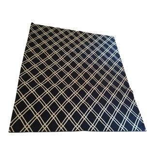 Custom Made Trellis Cotton Dhurrie Rug - 8' X 10'