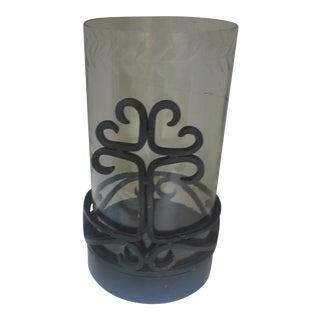 Cast Iron & Glass Hurricane Lamp