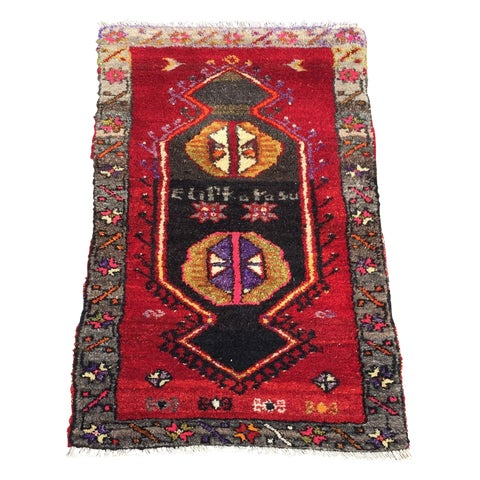 Image of Vintage Red Anatolian Persian Rug