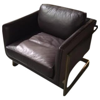 Milo Baughman T-Lounge Leather Chair
