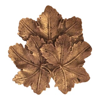 Solid Brass Maple Leaf Dish