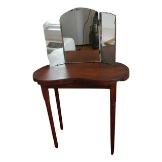 1960s Vintage Kidney Shaped Vanity