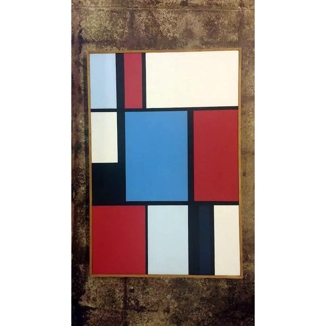 Florence Arnold MidCentury Hard Edge Oil Painting - Image 2 of 9