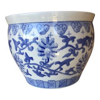 Blue & White Chinese Planter Pot