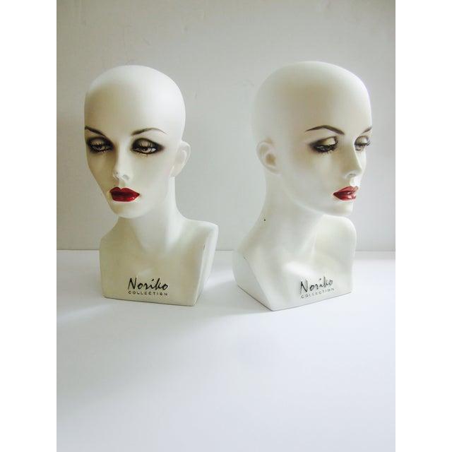 Image of Vintage Modernist Mannequin Display Heads - Pair