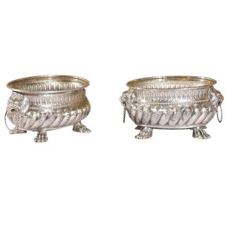 Pair of Silver Plate Jardinieres or Planters