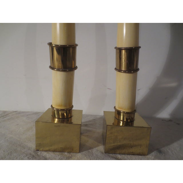 Image of Vintage 1976 Chapman Horns on Brass - A Pair