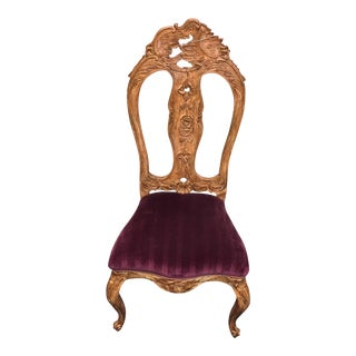 Red Venetian Side Chair
