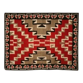 c.1940 Navajo Ganado Pattern Rug from Klagetoh, Az.