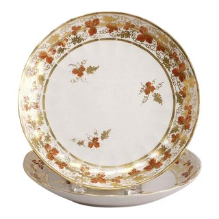 Circa 1810 Fluted English Derby Plates - A Pair