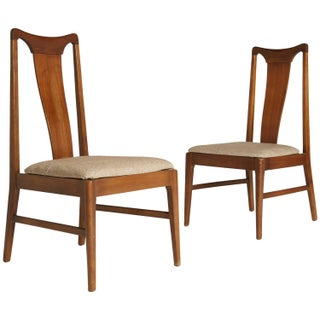 Walnut Side Chairs by Broyhill Brasilia - Pair
