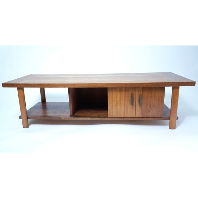Lane Coffee Table with Sliding Door - Image 3 of 7