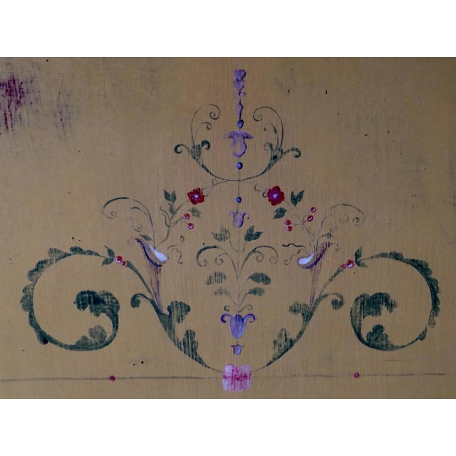 Image of Hand-Painted French Demilune Console