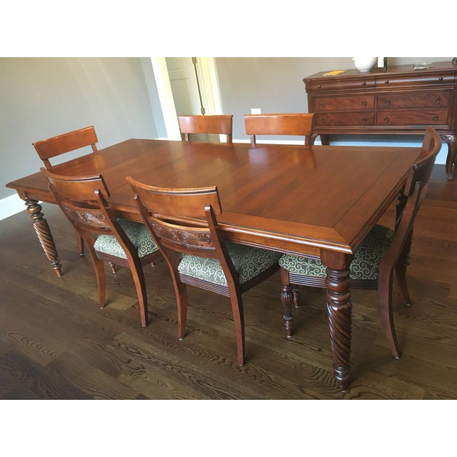 Ethan Allen British Classics Dining Set | Chairish