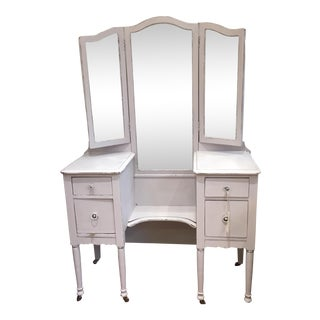 Gray-Purple Painted Dressing Table