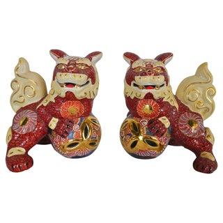 Japanese Gilded Foo Dogs - Pair