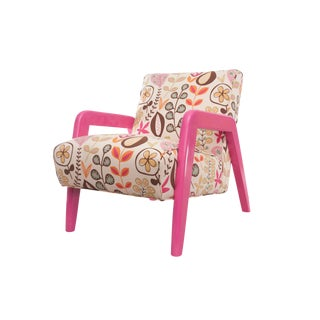 Atomic Chair in Pink Floral Pattern