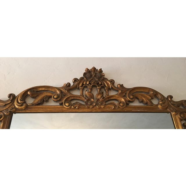 Gilt Finish Carved Italian Mirror - Image 9 of 11
