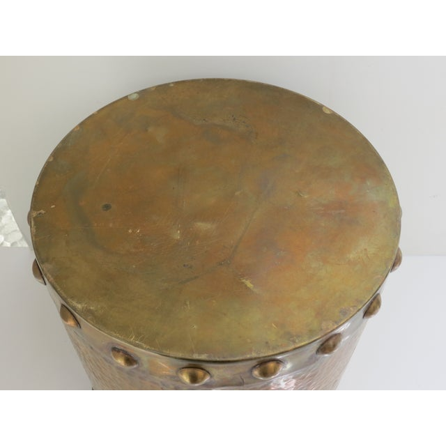 Brass Drum-Style Cachepot - Image 6 of 8