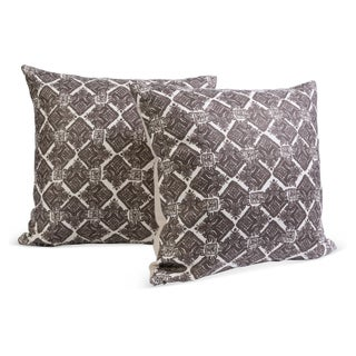 Block Print Linen Pillows - A Pair