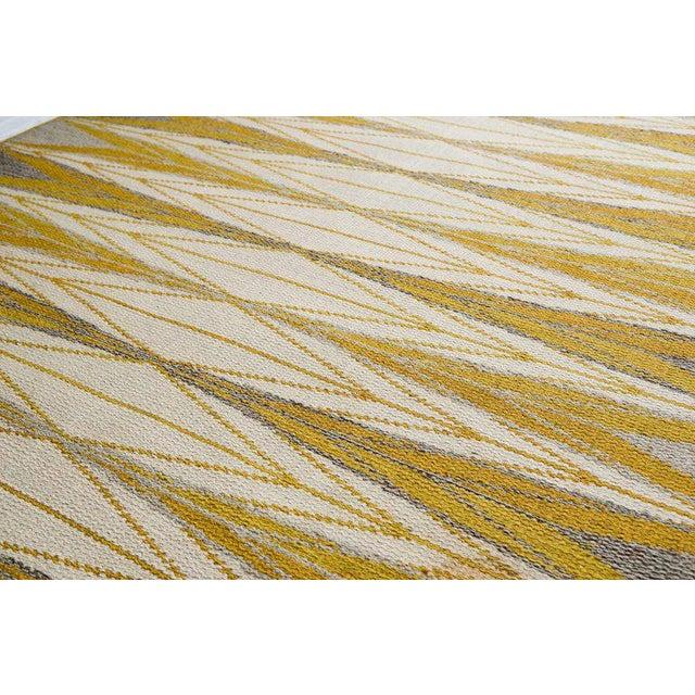 "Vintage Ingrid Dessau ""Sylarna"" Flat-Weave Swedish Carpet - Image 3 of 7"