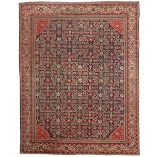 Hand-Knotted Persian Mahal Rug - 10′5″ × 13′2″