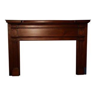19th Century American Hand Carved Pine Mantel